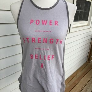 Under Armour tank top power of pink